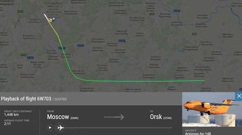 Todos os ocupantes de avião que caiu na Rússia morreram