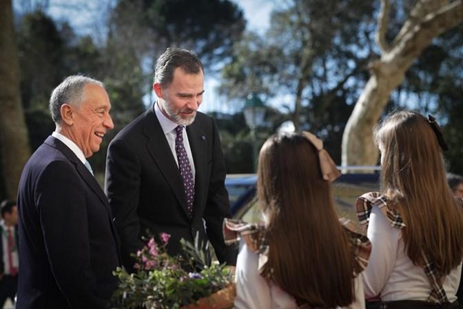 Reis de Espanha dão jantar em honra de Marcelo Rebelo de Sousa