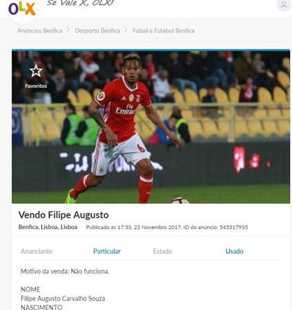 6f4180f828 Filipe Augusto à venda no OLX? - Insólito - SÁBADO